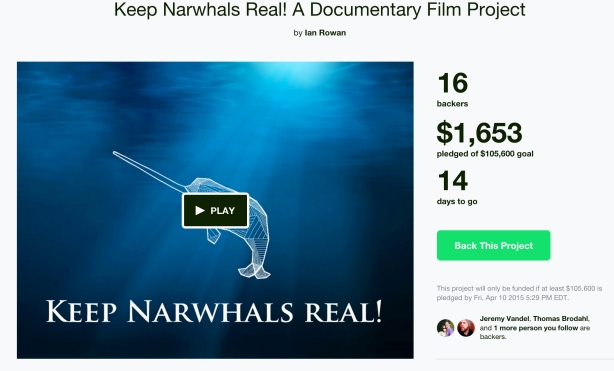 Head on Over to the Keep Narwhals Real Project Page on Kickstarter to Lend Your Support!